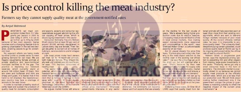 Meat industry,price control