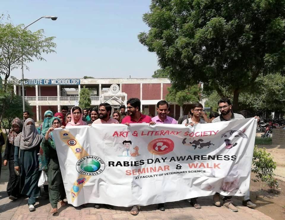 Awareness walk on rabies day