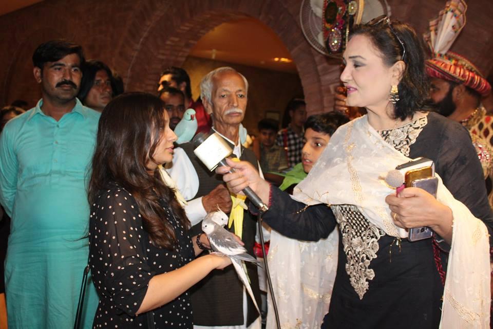 Dr. Sughra Sadaf in Bird Show