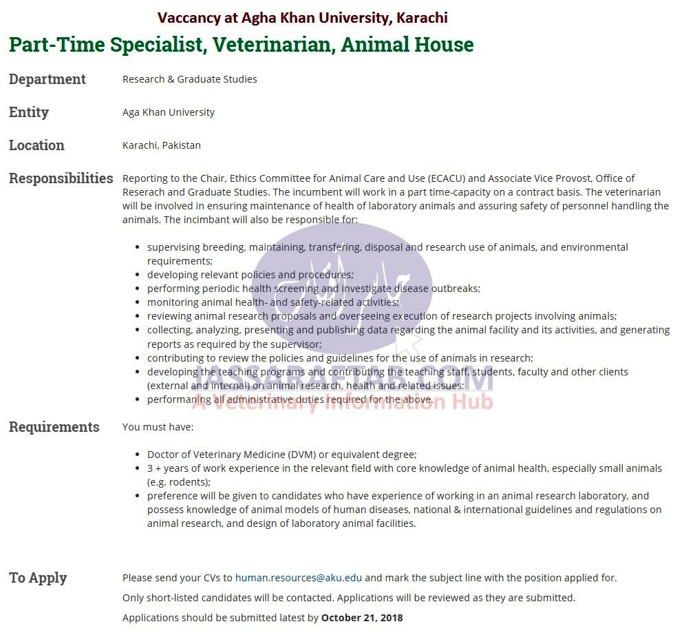 Jobs for vets at Agha Khan University