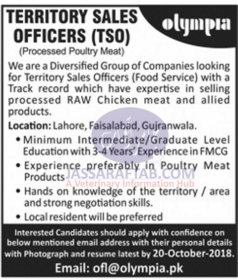 olympia Poultry meat job