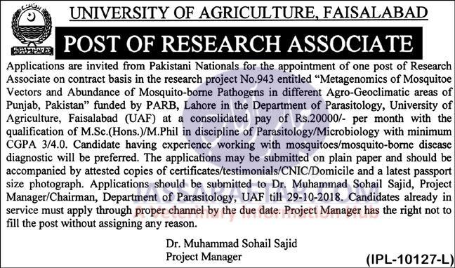 Parasitology Department, PARB Project