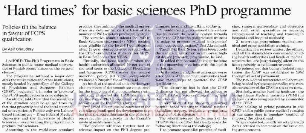 Basic Sciences PhD Program