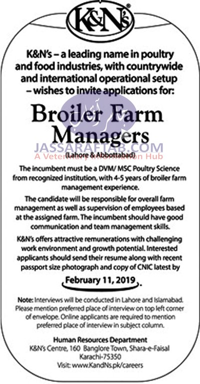 Broiler Farm Manager Job