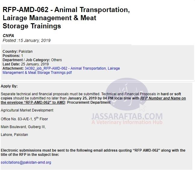 Animal Transportation, Lairage Management & Meat Storage