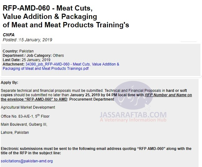 Request for Proposal - Meat
