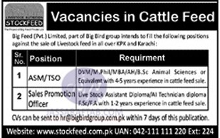 Biig feed jobs for vet