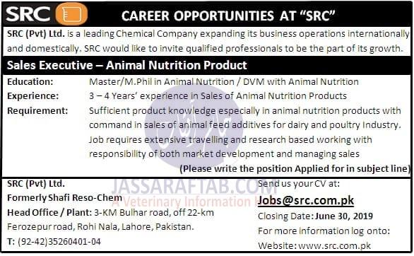Animal nutrition  veterinary job