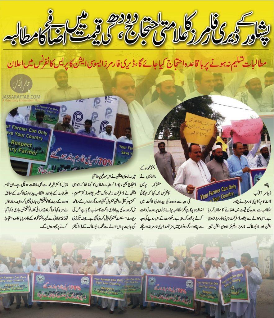 Dairy Farmers Peshawar Protes
