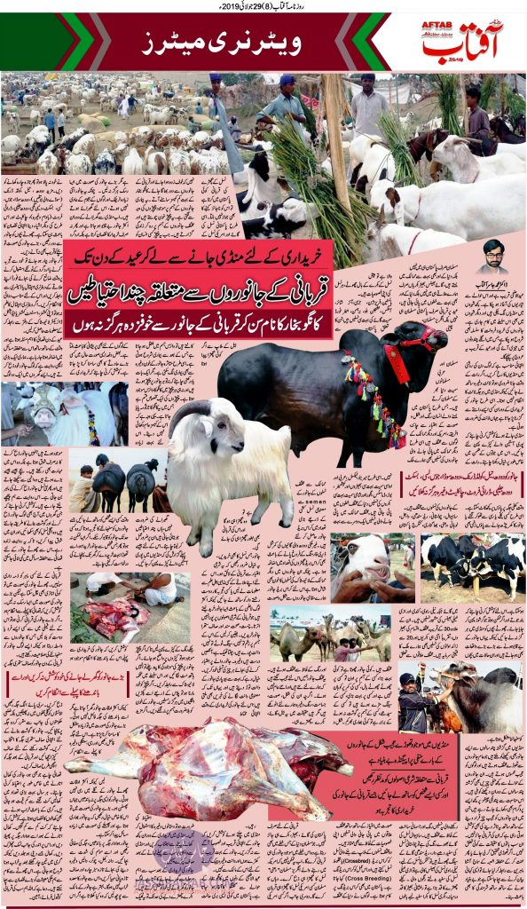 Instruction regarding Qrubani Animals