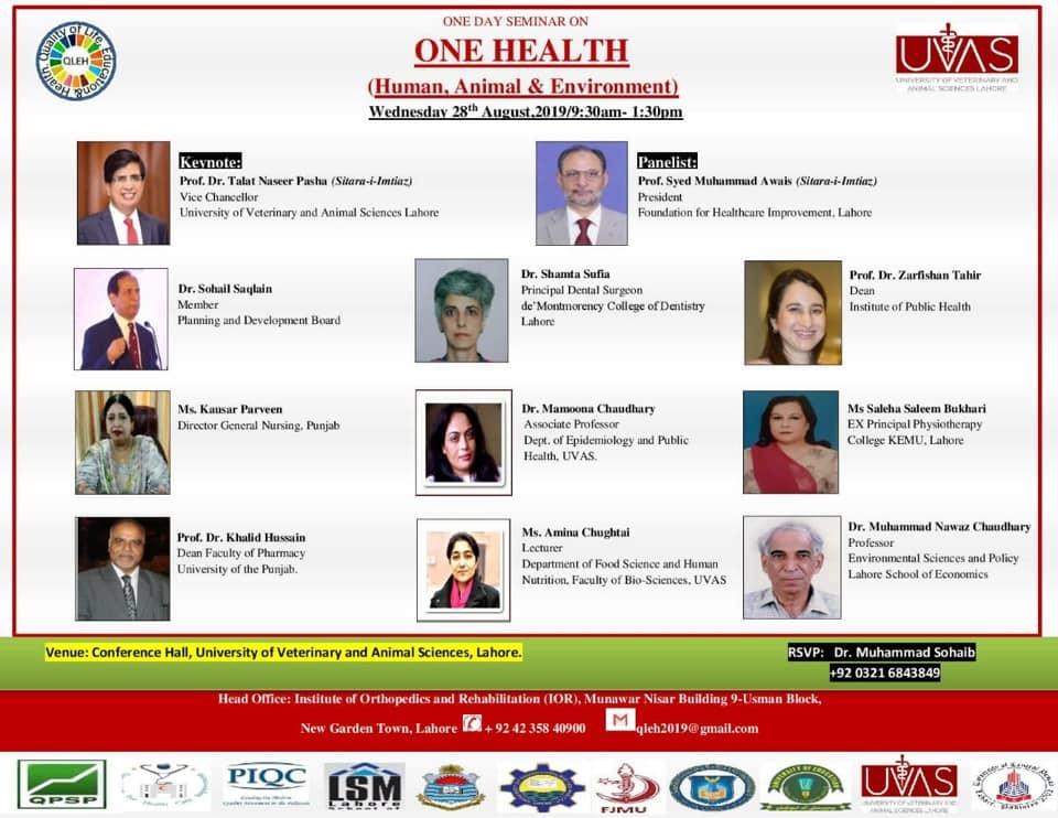 One Health Seminar Lahore