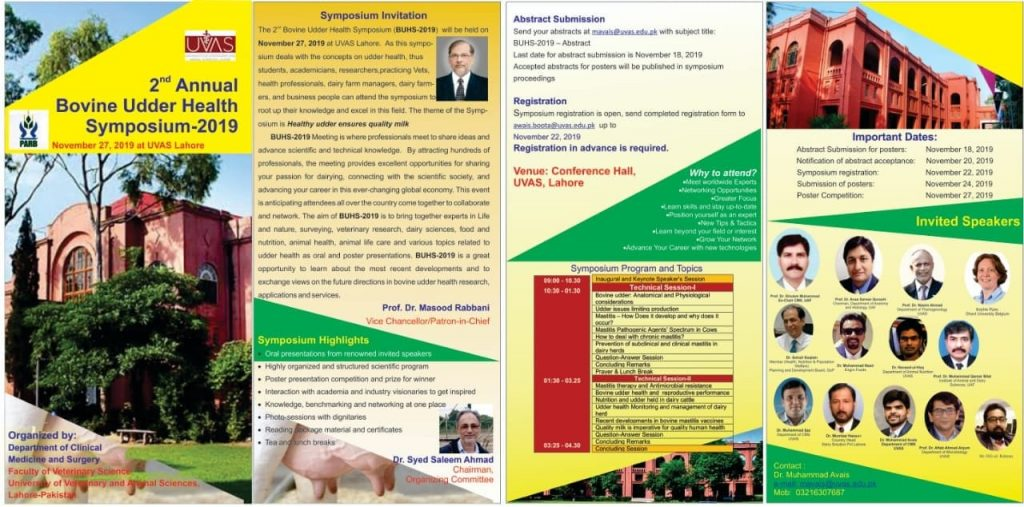 Bovine udder health symposium UVAS