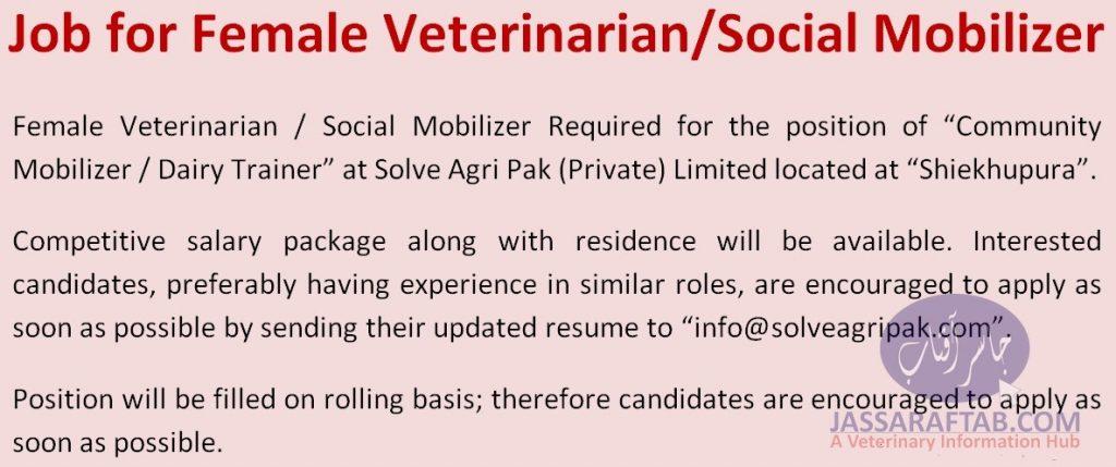 Social Mobilizer Lady Vet