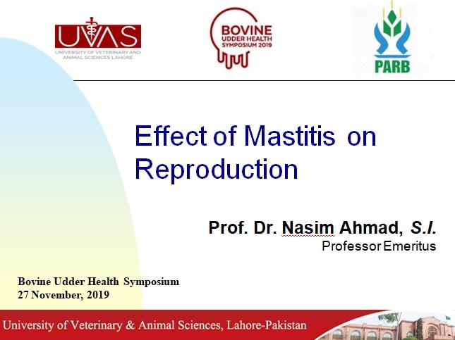 Economcal effects of mastitis