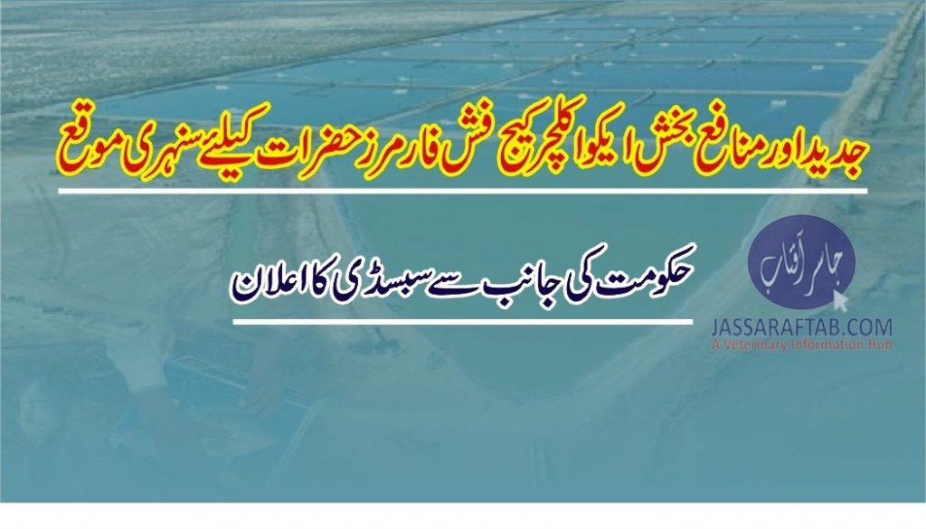Subsidy for aquaculture cage fish farmers