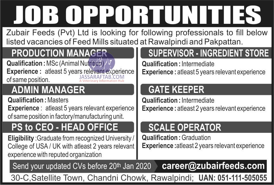 Job opportunity for nutritionist