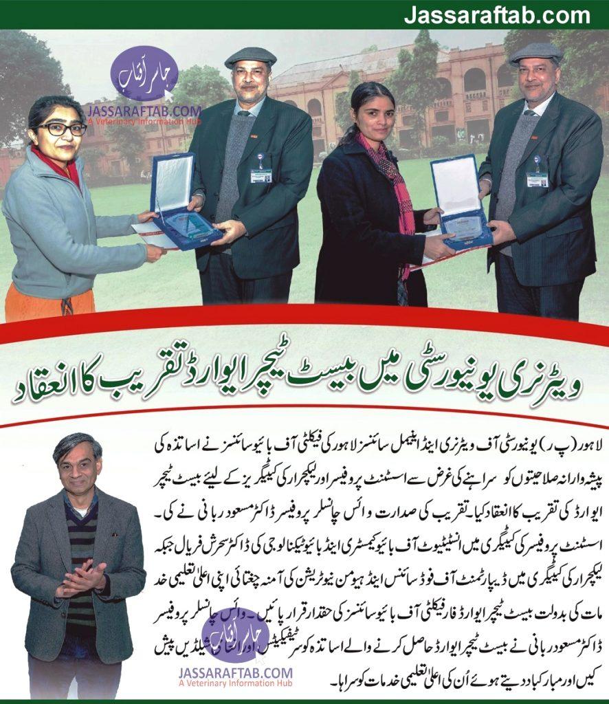 Best University Teacher Award