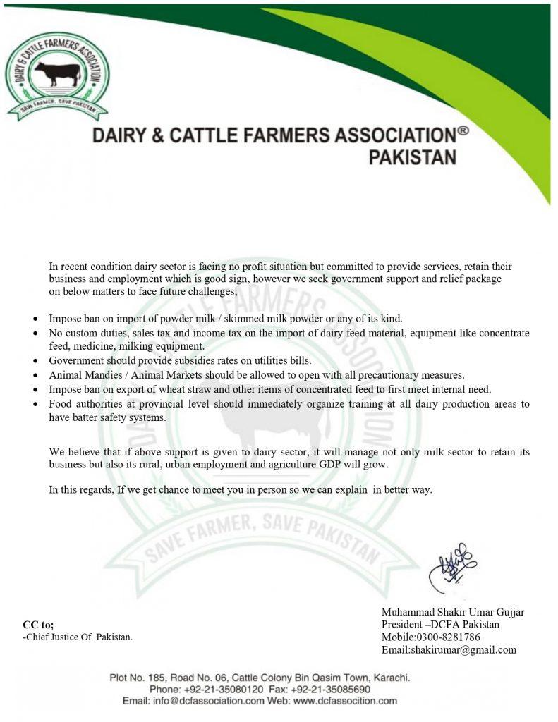 Ban on dry milk import