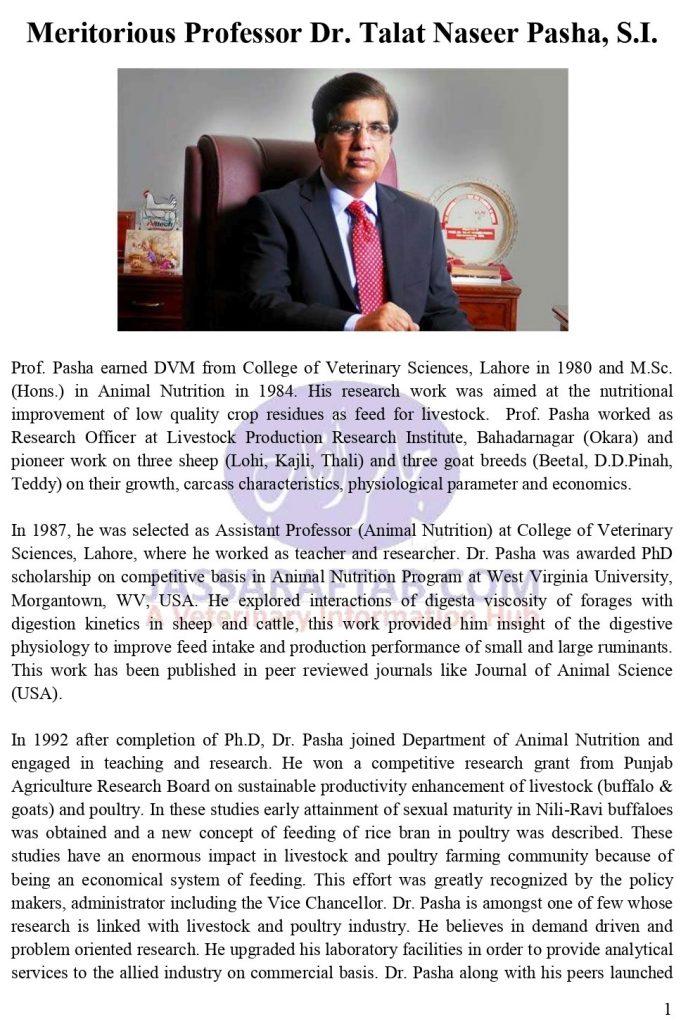 Talat Naseer Pasha Profile
