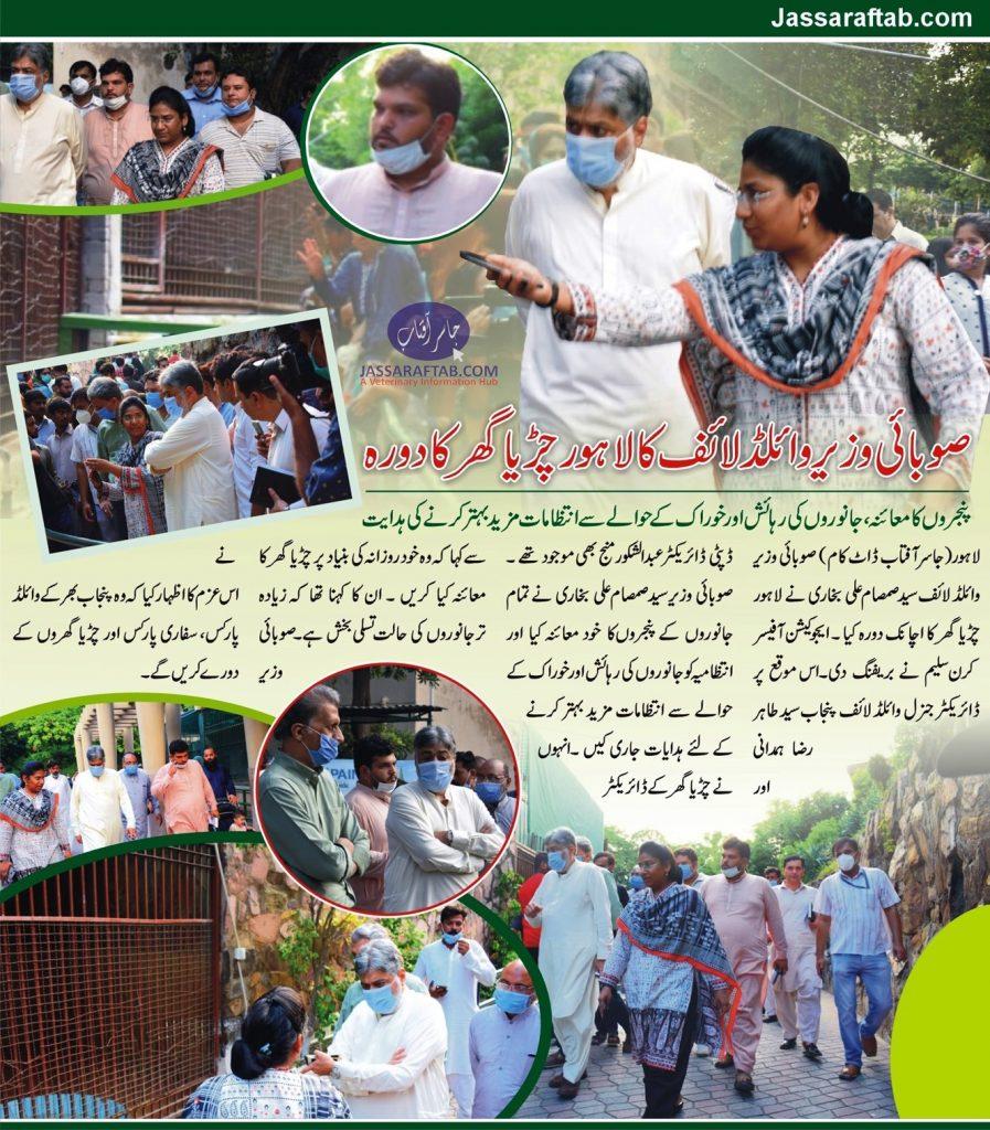 Minister Wildlife Punjab visit of Zoo