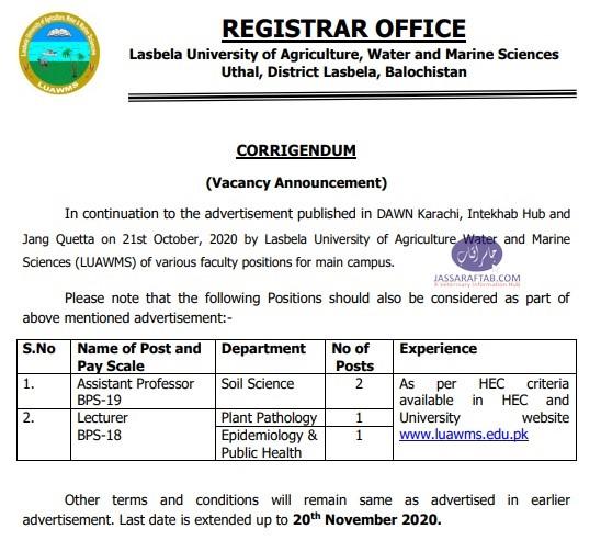 jobs at lasbella university