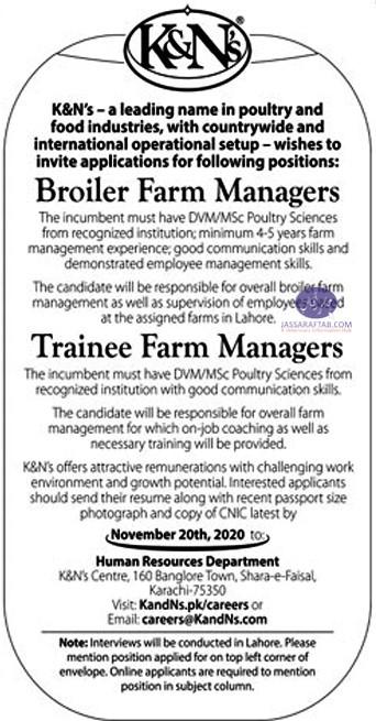 Broiler farm manager job