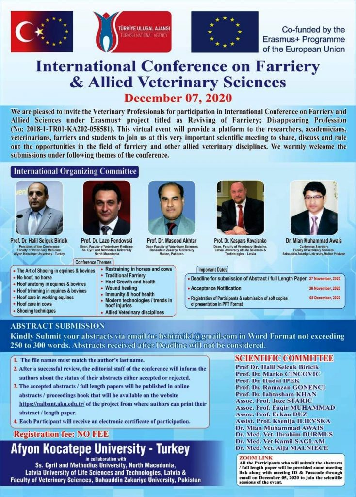 farriery and allied veterinary sceiences