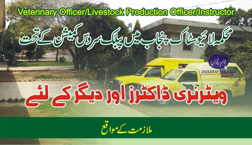 veterinary officers PPSC Jobs