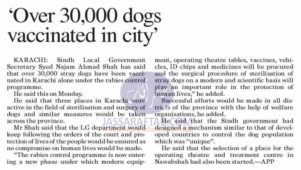 Rabies Control in Karachi