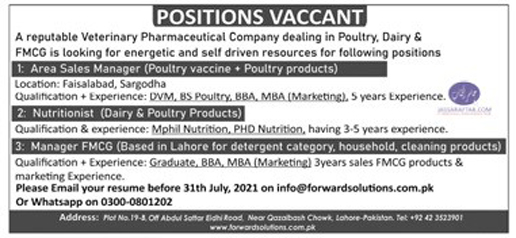 DVM jobs in medicine company
