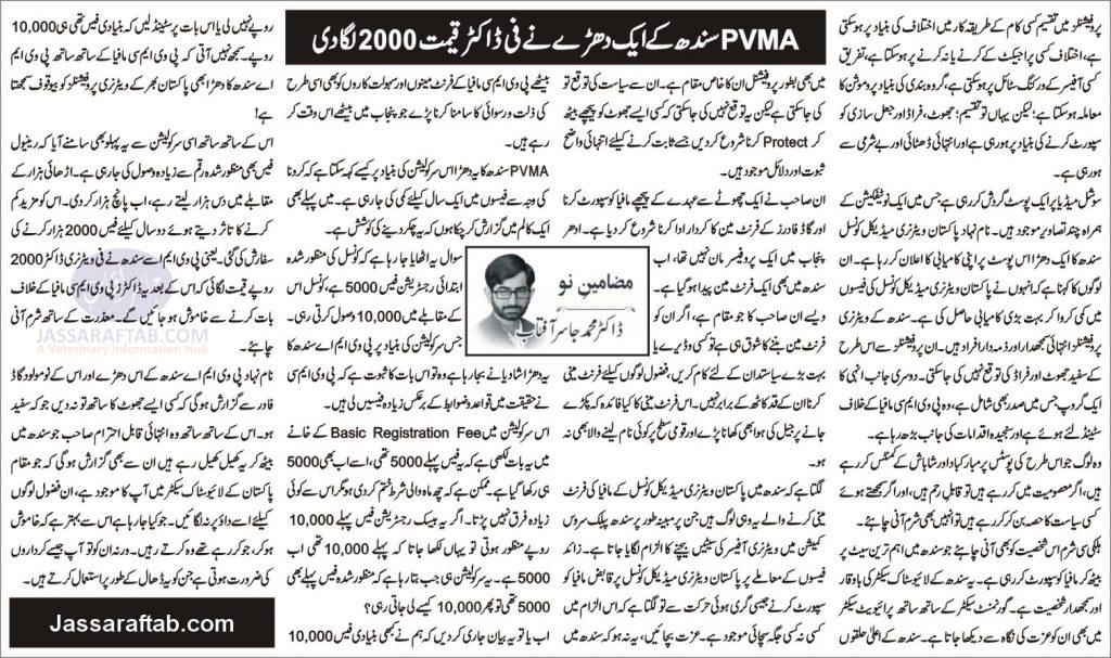 PVMA Sindh Mafia